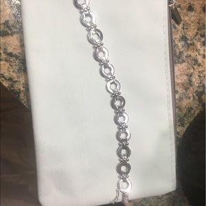 Sterling silver link tennis bracelet